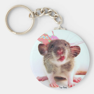 Silly Flutterby Rat Keychain