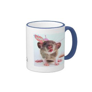 Silly Flutterby Rat Ringer Coffee Mug