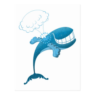 Silly Flying Whale Postcard