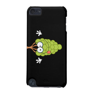 silly funny cute green grapes cartoon character iPod touch (5th generation) case