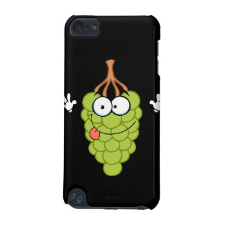 silly funny cute green grapes cartoon character iPod touch (5th generation) cases