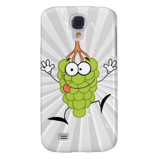 silly funny cute green grapes cartoon character samsung galaxy s4 cover
