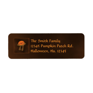 Silly funny Jack o lantern Halloween Labels