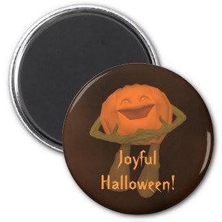 Silly funny Jack o lantern Halloween Magnet