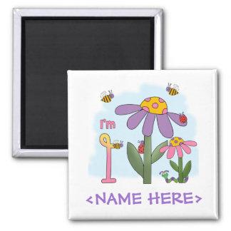 Silly Garden 1st Birthday Magnet