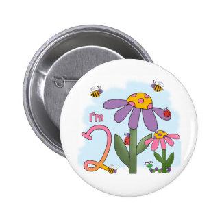 Silly Garden 2nd Birthday Button