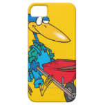 silly gardening bird with wheel barrow iPhone 5 covers