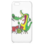 silly gator alligator drummer drumming cartoon cover for iPhone 5C