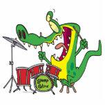 silly gator alligator drummer drumming cartoon acrylic cut outs