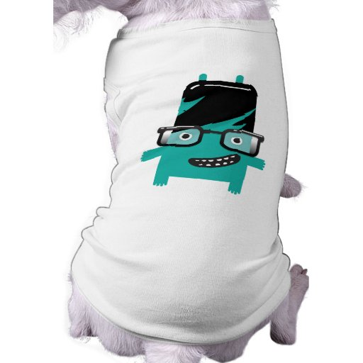 silly geek monster friend big glasses pet shirt