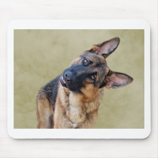 Silly German Shepherd Mouse Pad