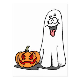 Silly Ghost Postcard