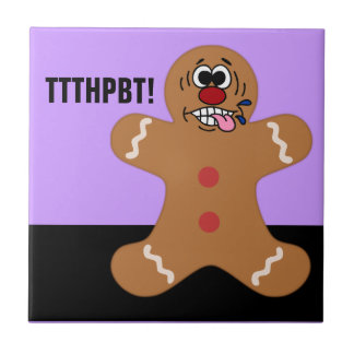 Silly Ginger Bread Man Cookie Ceramic Tile
