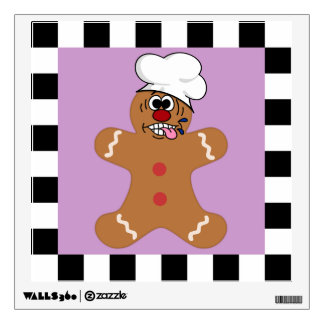 Silly Gingerbread Man Cookie Set Wall Sticker