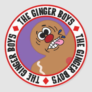 Silly Gingerbread Man Cookie Round Stickers