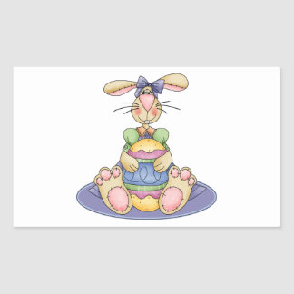 Silly Girl Easter Bunny Stickers