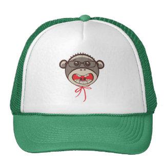 Silly Glasses Sock Monkey Hat