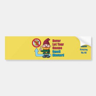 Silly Gnome and Mustard Bumper Sticker