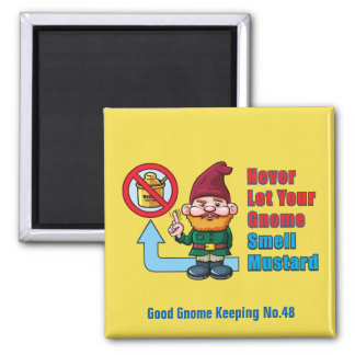 Silly Gnome and Mustard Magnet