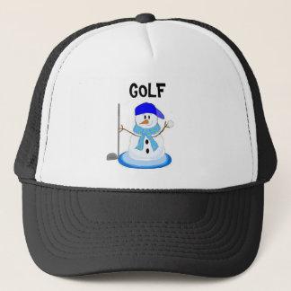 Silly Golfing Snowman Trucker Hat