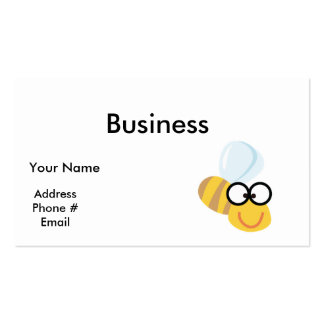 silly goofy bumble bee business card