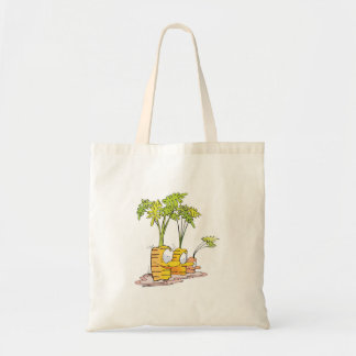 silly goofy cute cartoon carrots rooted bags