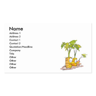 silly goofy cute cartoon carrots rooted business card