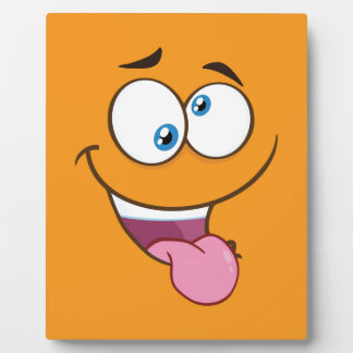 Silly Goofy Square Emoji Plaque