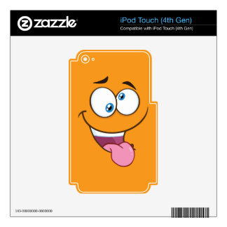 Silly Goofy Square Emoji Skins For iPod Touch 4G