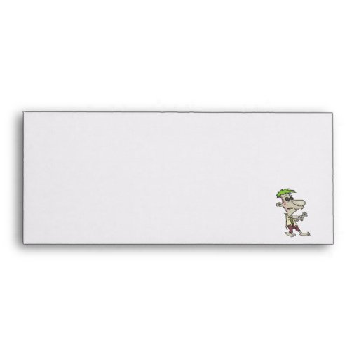 silly goofy zombie cartoon character envelope