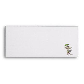 silly goofy zombie cartoon character envelopes