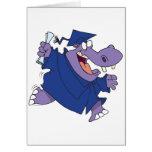 silly graduate graduation hippo cartoon card