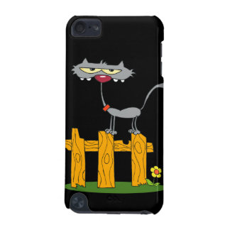 silly gray cat standing on a fence cartoon iPod touch (5th generation) covers