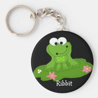Silly Green Frog Keychain
