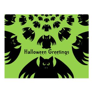 Silly Halloween bat Postcard