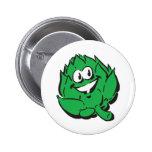 silly happy artichoke 2 inch round button
