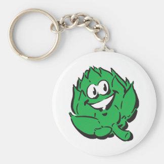 silly happy artichoke keychain
