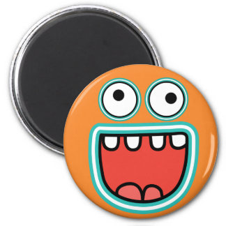 Silly Happy Face Cute Monster Grin Magnet