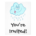 silly happy rain cloud cartoon personalized announcement