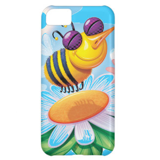 silly happy smiling bee on a flower iPhone 5C cover