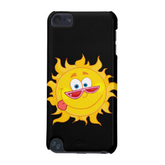 silly happy sun cartoon wearing shades iPod touch 5G cases