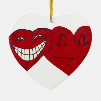 SILLY HEARTS ornament