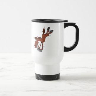silly high kick horse cartoon character mug