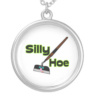 Silly Hoe Silver Plated Necklace