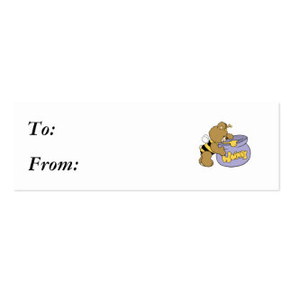 Silly Honey Bee Bear Business Card