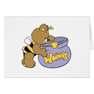 Silly Honey Bee Bear Card