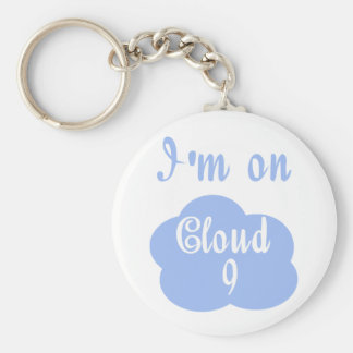 Silly I'm on cloud nine t-shirts and gifts. Keychain