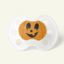Silly Jack-O-Lantern Baby Halloween Pacifier