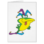 silly jester fool frog cartoon cards