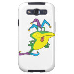 silly jester fool frog cartoon galaxy s3 cases